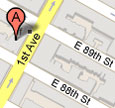 EarthworksNYC map at 1705 1st Ave, NYC